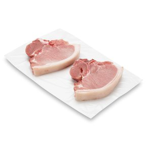 Waitrose 1 British Free Range pork T-bone chops