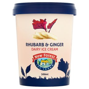 New Forest Rhubarb & Ginger Dairy Ice Cream
