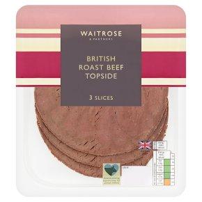 Waitrose British roast beef topside, 3 slices