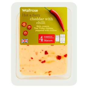 Waitrose mature Cheddar cheese with chilli, strength 4