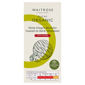 Waitrose Duchy Stem Ginger Biscuits in Dark Chocolate