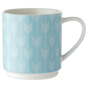 Waitrose Blue Chevron Dash Stacker Mug