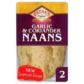 Patak's Garlic & Coriander Naan Breads