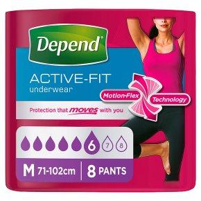 Depend Active Fit Underwear Womens Medium