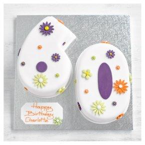 60th Birthday flowers cake