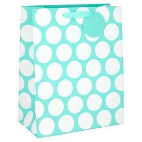 Waitrose Aqua Spot Large Gift Bag