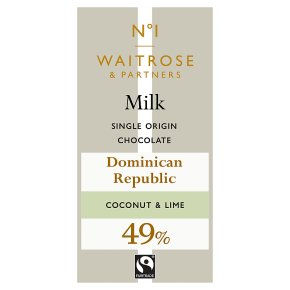 No.1 Milk Chocolate with Coconut & Lime
