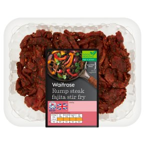 Waitrose Rump Steak Fajita Stir Fry