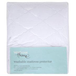 Waitrose Home single washable mattress protector