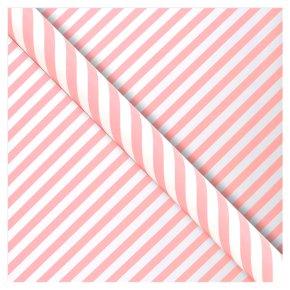 Waitrose Gift Wrap Pink Candy Stripe