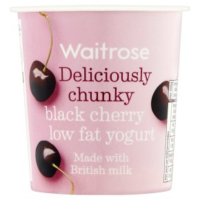 Waitrose deliciously chunky black cherry low fat yogurt