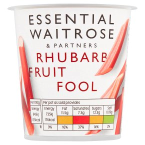 Waitrose fruit fool rhubarb