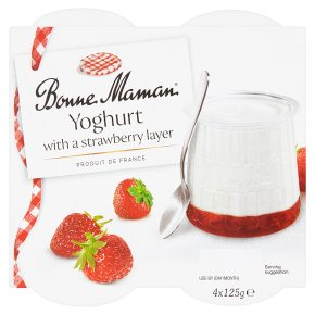 Bonne Maman Yoghurt with a Strawberry Layer