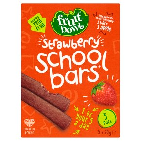 Fruit Bowl school bars strawberry 5 pack 100g