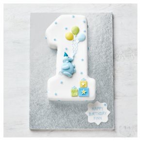 Awe Inspiring Fiona Cairns 1St Birthday Blue Elephant Cake Waitrose Partners Funny Birthday Cards Online Necthendildamsfinfo