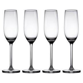 Waitrose Dining Chefs' Entertaining champagne flutes, pack of 4