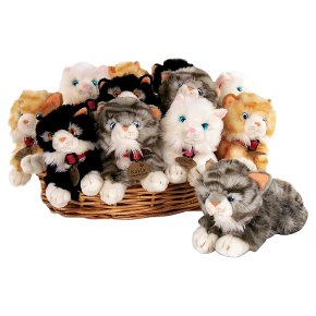 Keel toys 25cm laying cat, assorted