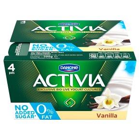 Activia fat free vanilla yogurts