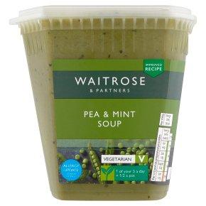 Waitrose pea & mint soup with leek