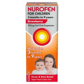 Nurofen for childen, strawberry flavour