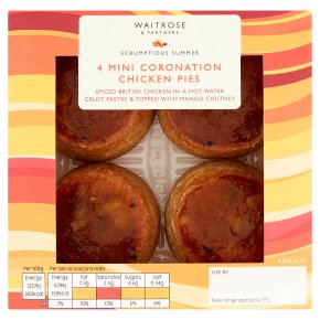 Waitrose 4 Mini Coronation Chicken Pies