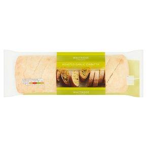 Waitrose Crisp & Buttery Roasted Garlic Ciabatta