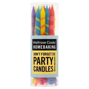 Waitrose Cooks' Homebaking striped part candles & holders