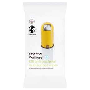 essential Waitrose anti-bacterial multi surface wipes