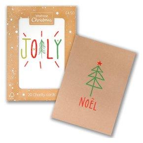 Waitrose Christmas Noel Joy Cards Waitrose Partners