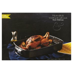 from Waitrose 40x28cm non-stick roaster with rack