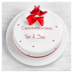 Hearts Celebration Cake - Vanilla Sponge - 25cm (Ruby)
