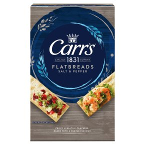 Jacob's flatbreads salt & cracked black pepper