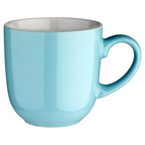 essential Waitrose teal mug