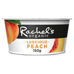 Rachel's organic forbidden fruits peach yogurt