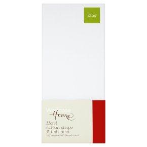 Waitrose Home Hotel Sateen Stripe Fitted Sheet