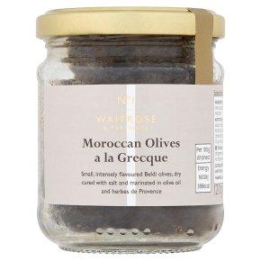 Waitrose 1 Black Olives à la Grecque
