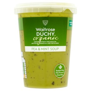 Waitrose Duchy Organic pea and mint soup