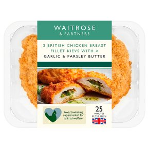 Waitrose 2 Chicken Kievs with Garlic and Parsley Butter