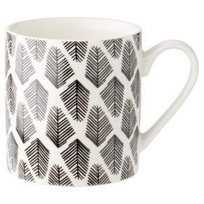 Waitrose Monochrome Feather Mug