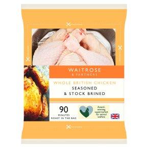 Waitrose Stock Brined Whole British Chicken
