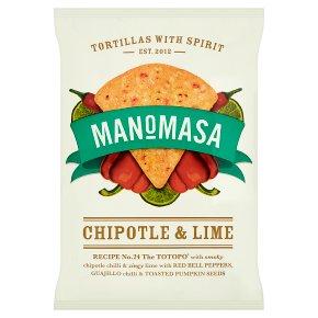 Manomasa tortillas chipotle & lime