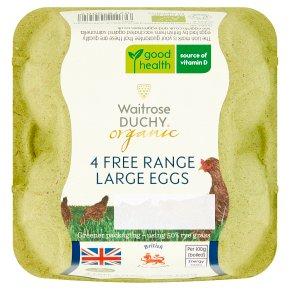 Waitrose Duchy Organic 4 large British free range eggs