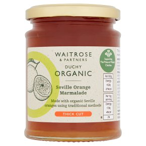 Waitrose Duchy Organic thick cut Seville orange marmalade