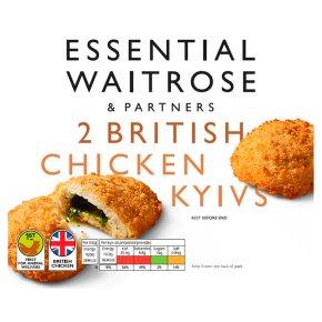essential Waitrose 2 Frozen British chicken kievs