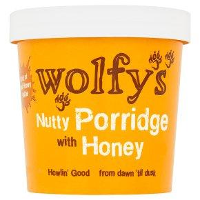 Wolfy's nutty porridge with honey