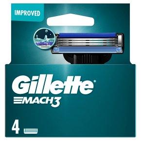 Gillette Mach 3 Manual Razor Blades 4 count