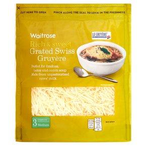 Waitrose grated Swiss medium Gruyère cheese, strength 3