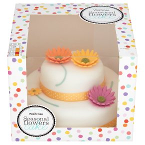 Waitrose Seasonal Flowers Cake