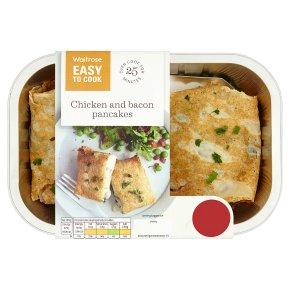 Waitrose Easy To Cook chicken & bacon pancakes