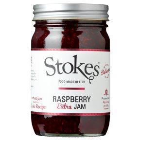 Stokes real preserves raspberry jam